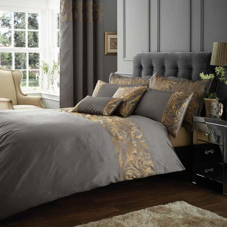 Grayson Pewter Bed Linen Collection Dunelm