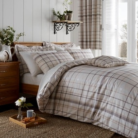Check Natural Bed Linen Collection