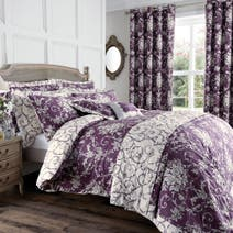 Plum Adriana Sateen Bed Linen Collection