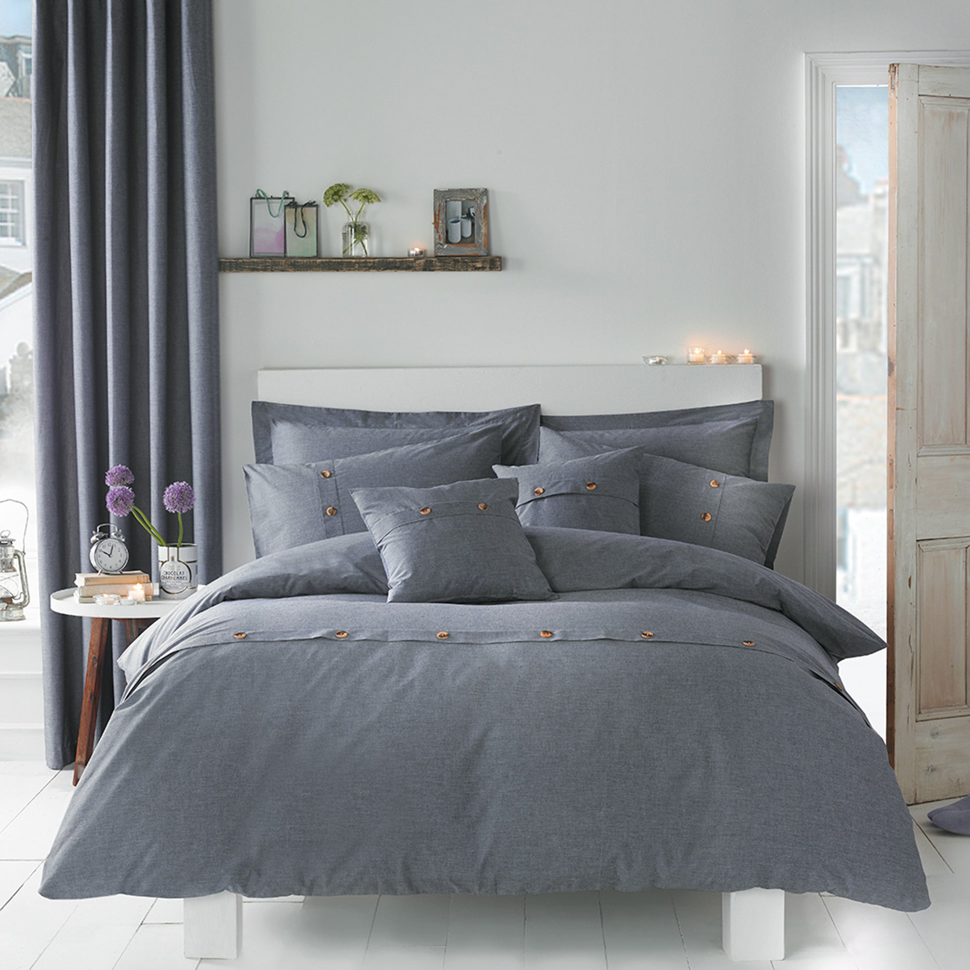 Chambray Blue Bed Linen Collection