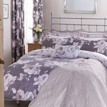 Pretty Vintage Charcoal Bed Linen Collection