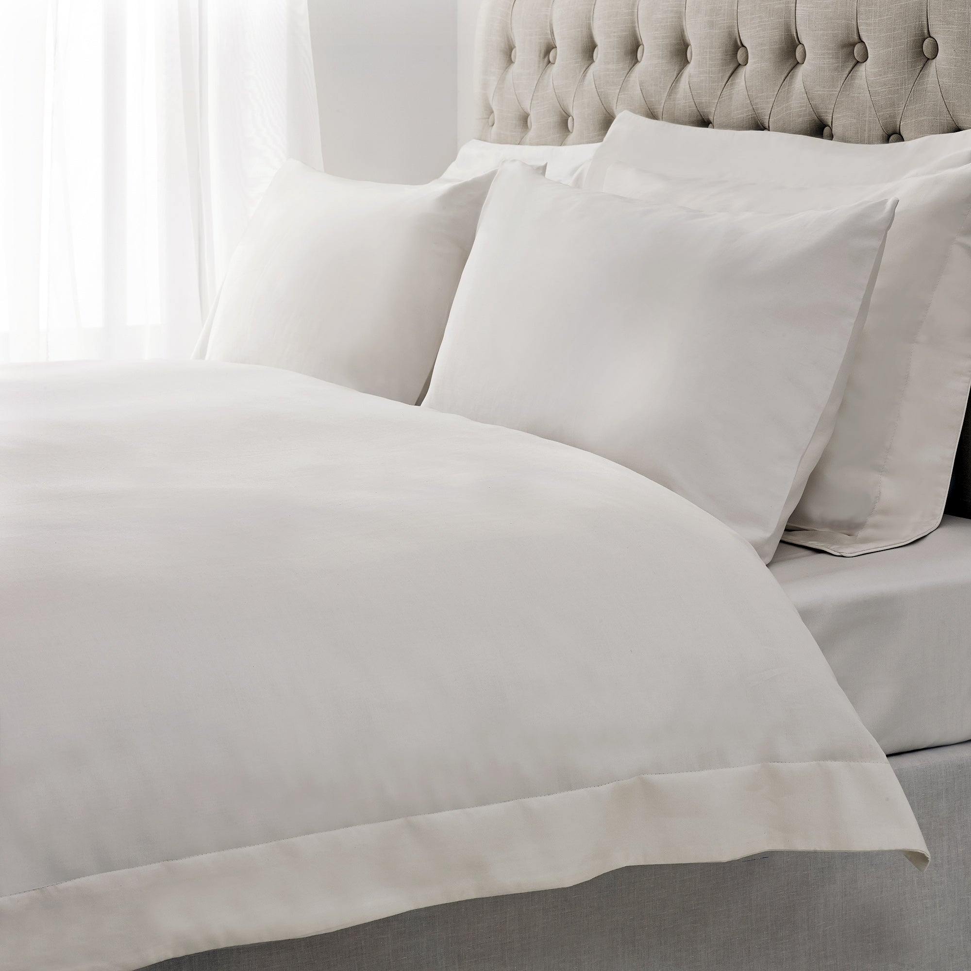 Cotton Rich Sateen White Bed Linen Collection