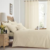 Cream Waffle Bed Linen Collection