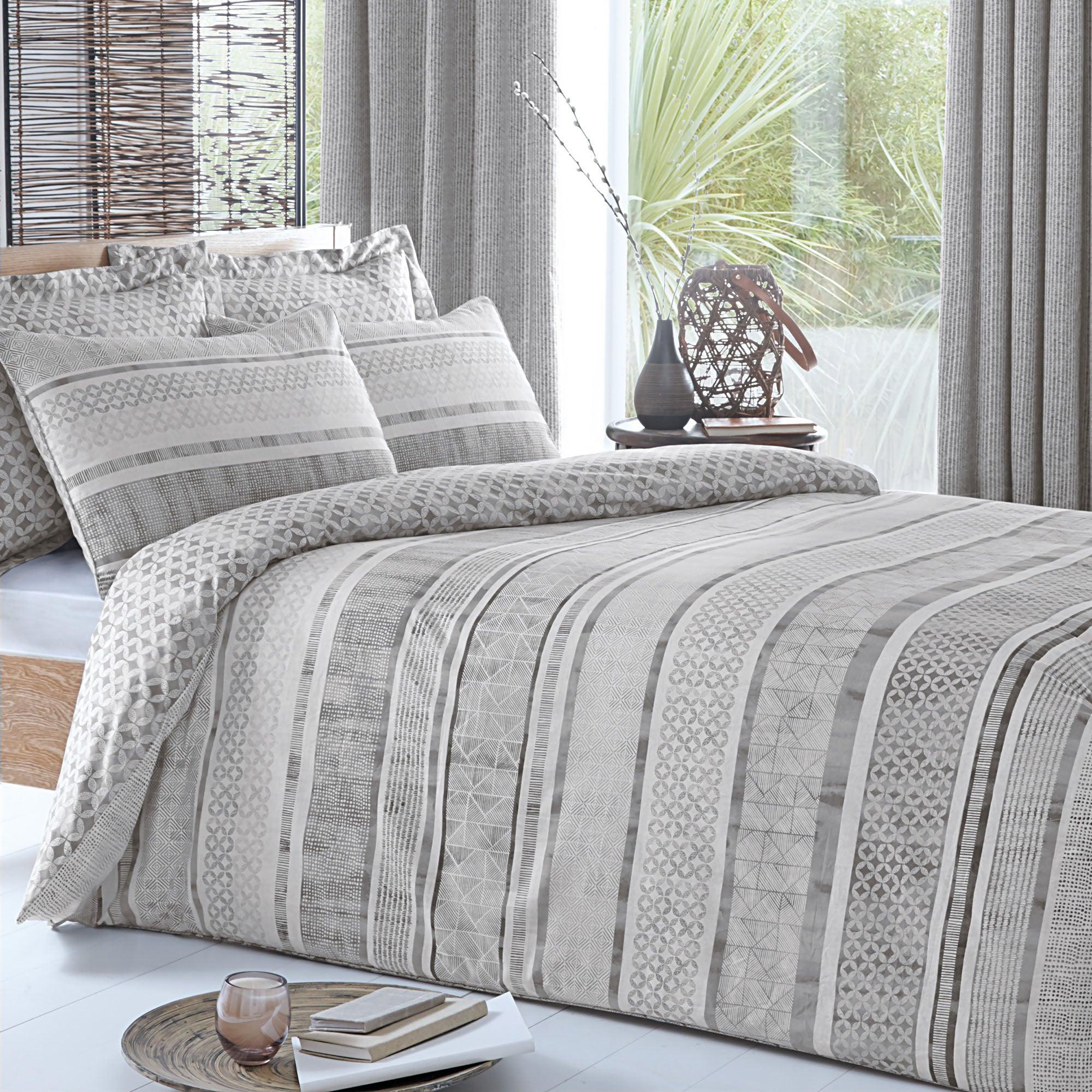 Asha Charcoal Bed Linen Collection
