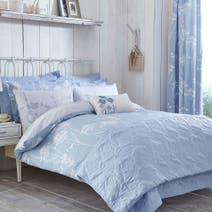 Bryony Blue Bed Linen Collection