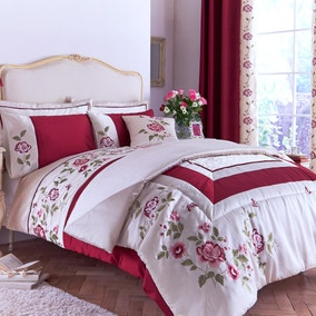 Catherine Red Bed Linen Collection