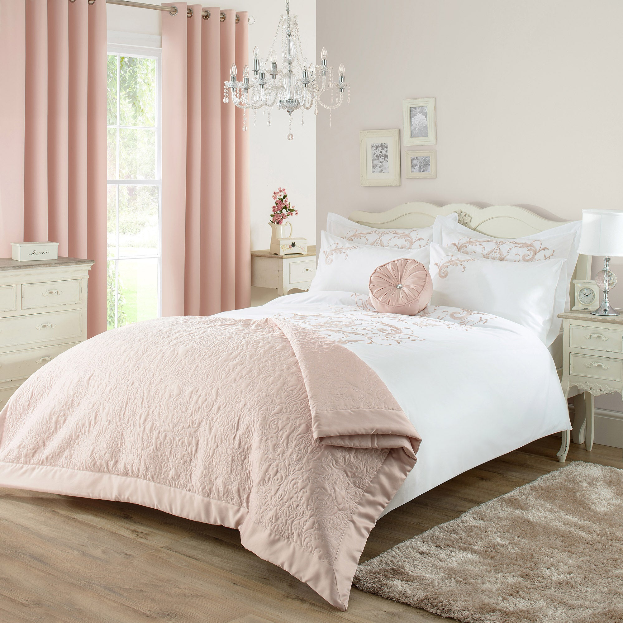 Claire Blush Bed Linen Collection