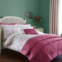 Delilah Raspberry Bed Linen Collection