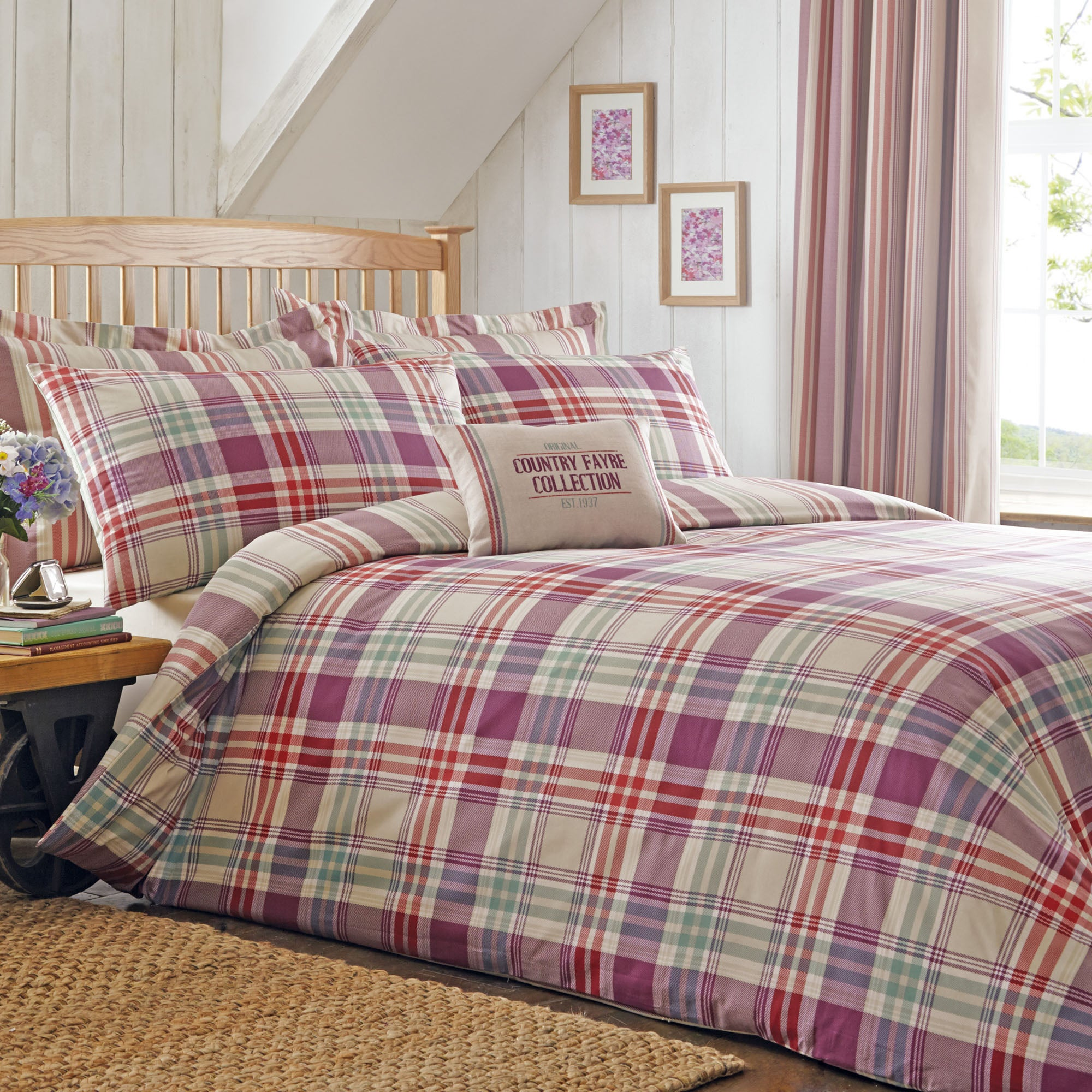 Didsbury Plum Bed Linen Collection