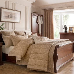 Dorma Medallion Gold Bed Linen Collection