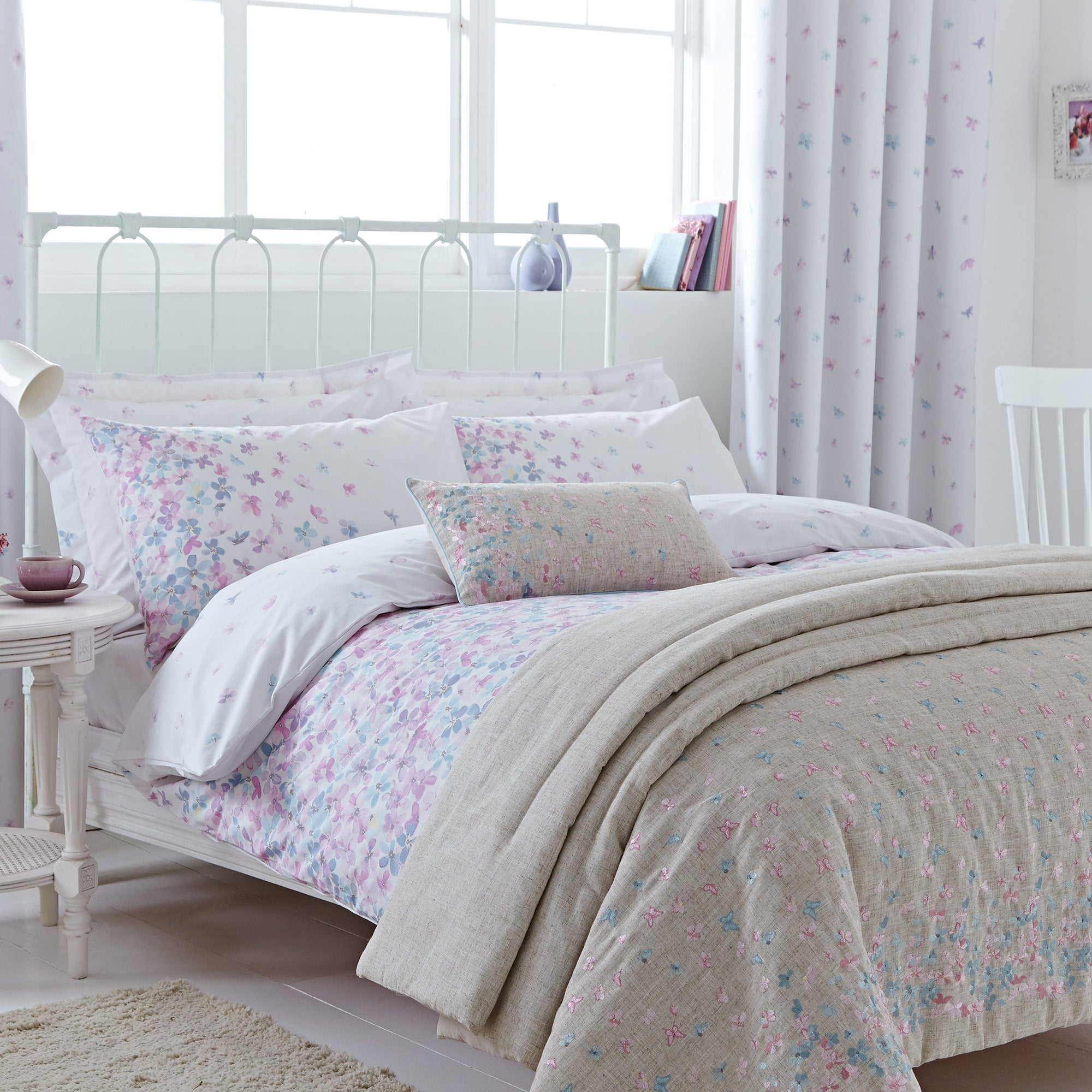 Emilia Natural Bed Linen Collection