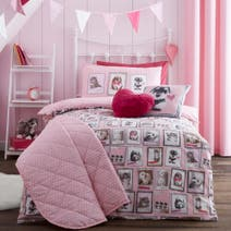 Pink Fluffy Friends Bed Linen Collection