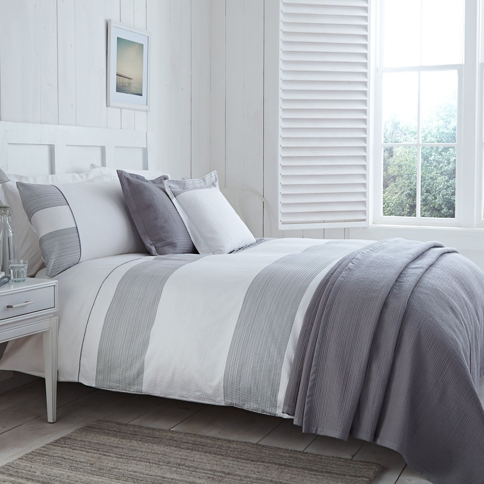 Harper Grey Bed Linen Collection