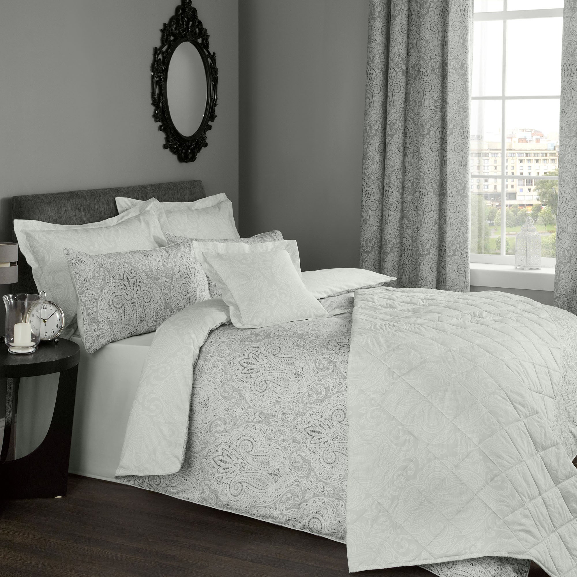 India Grey Bed Linen Collection