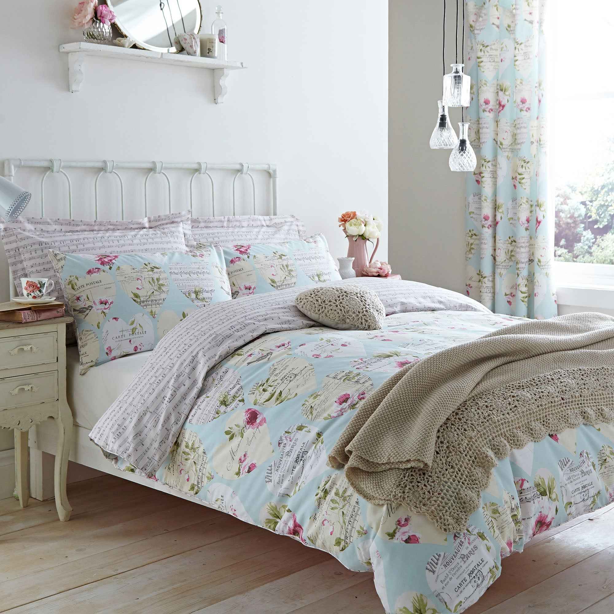 Melody Duck Egg Bed Linen Collection