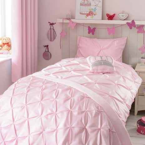 Mia Pink Bed Linen Collection Dunelm