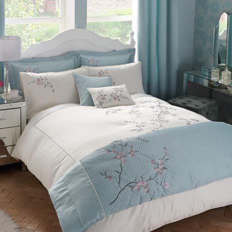 Misaki Duck Egg Bed Linen Collection Dunelm