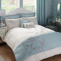 Misaki Duck Egg Bed Linen Collection
