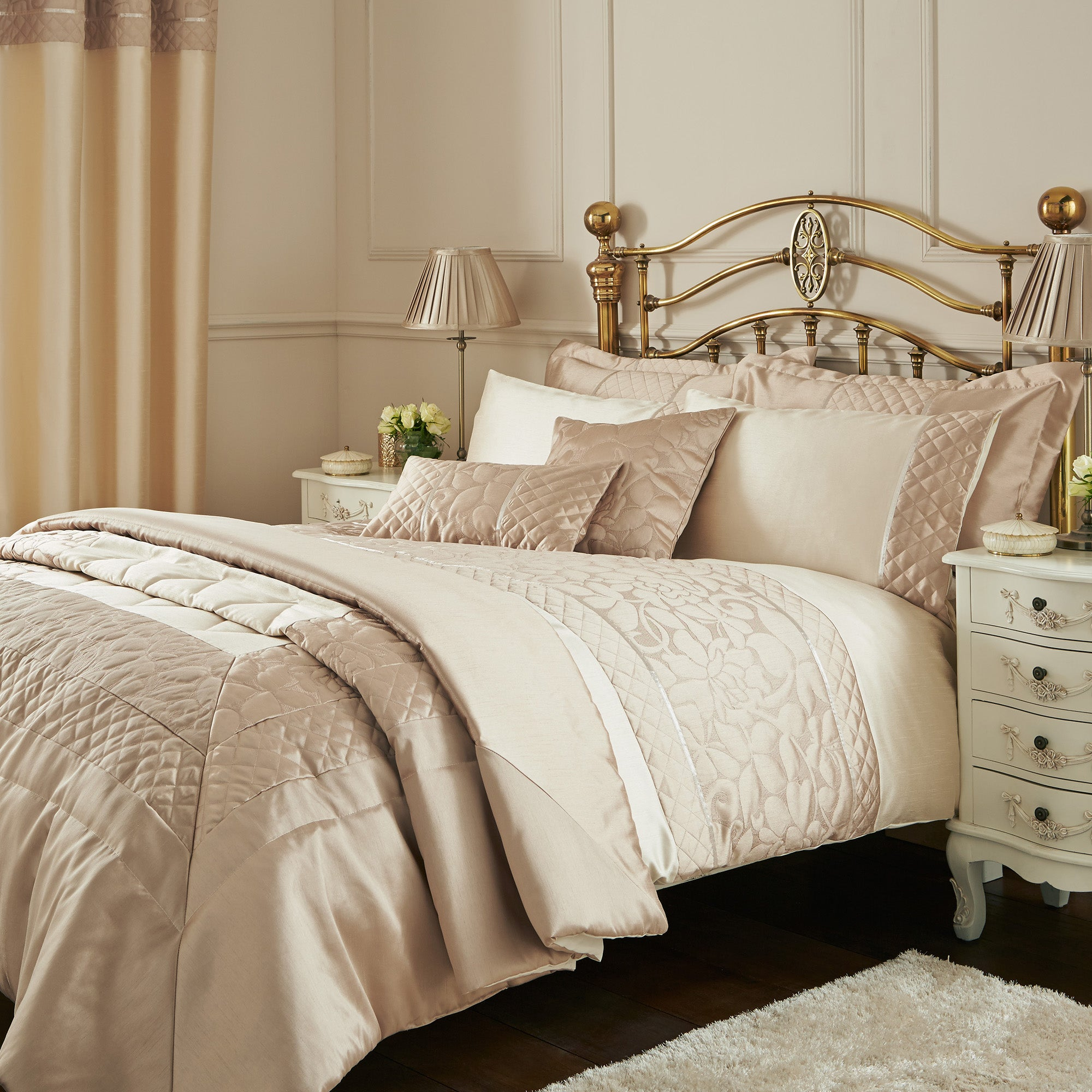 Thea Natural Bed Linen Collection