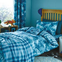 Teal Dino Camo Bed Linen Collection