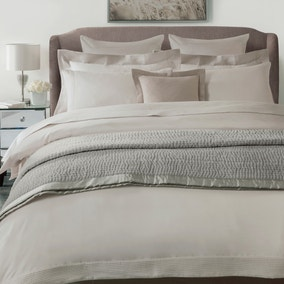 Hotel Pintuck Taupe 300 Thread Count Bed Linen Collection