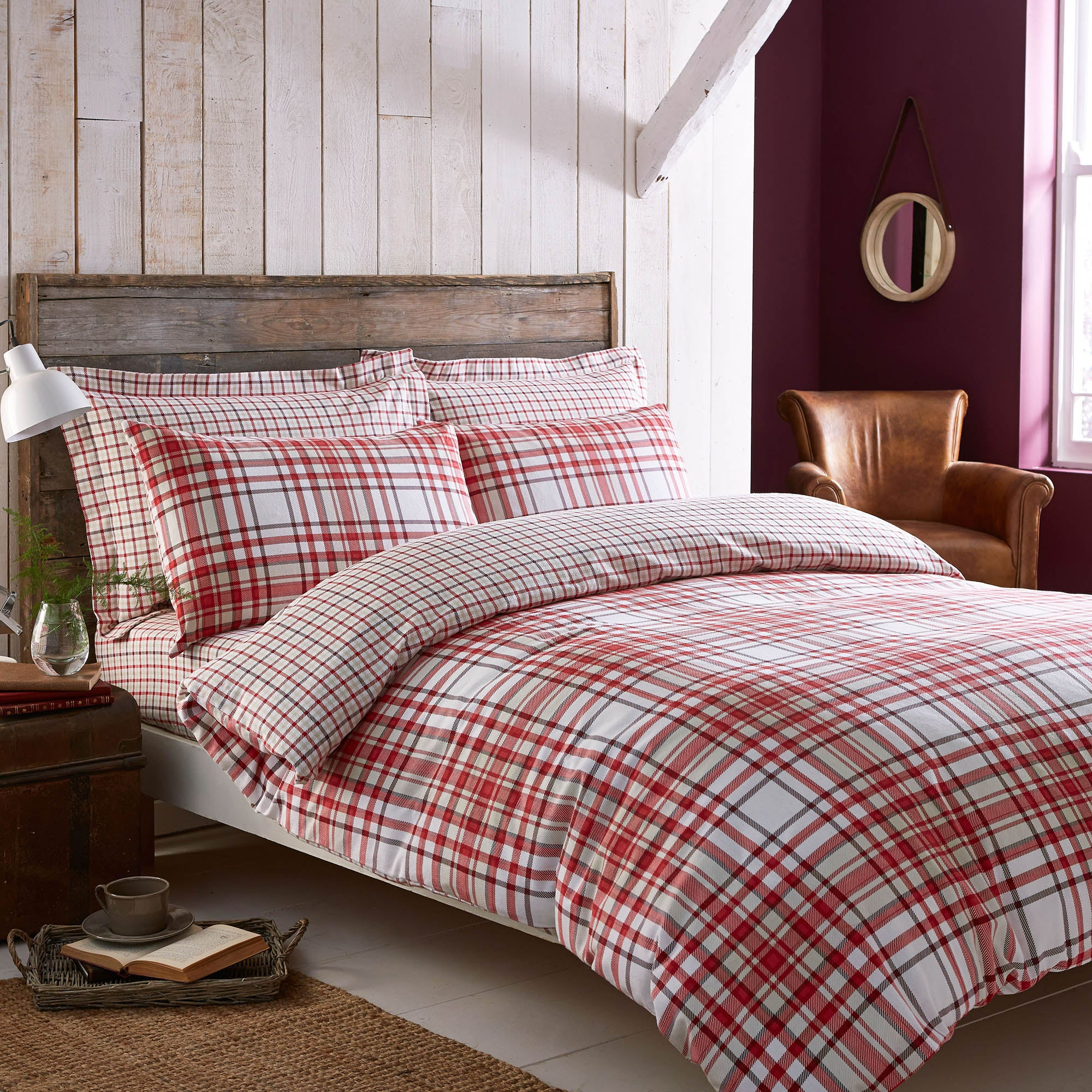 Hartford Red Bed Linen Collection