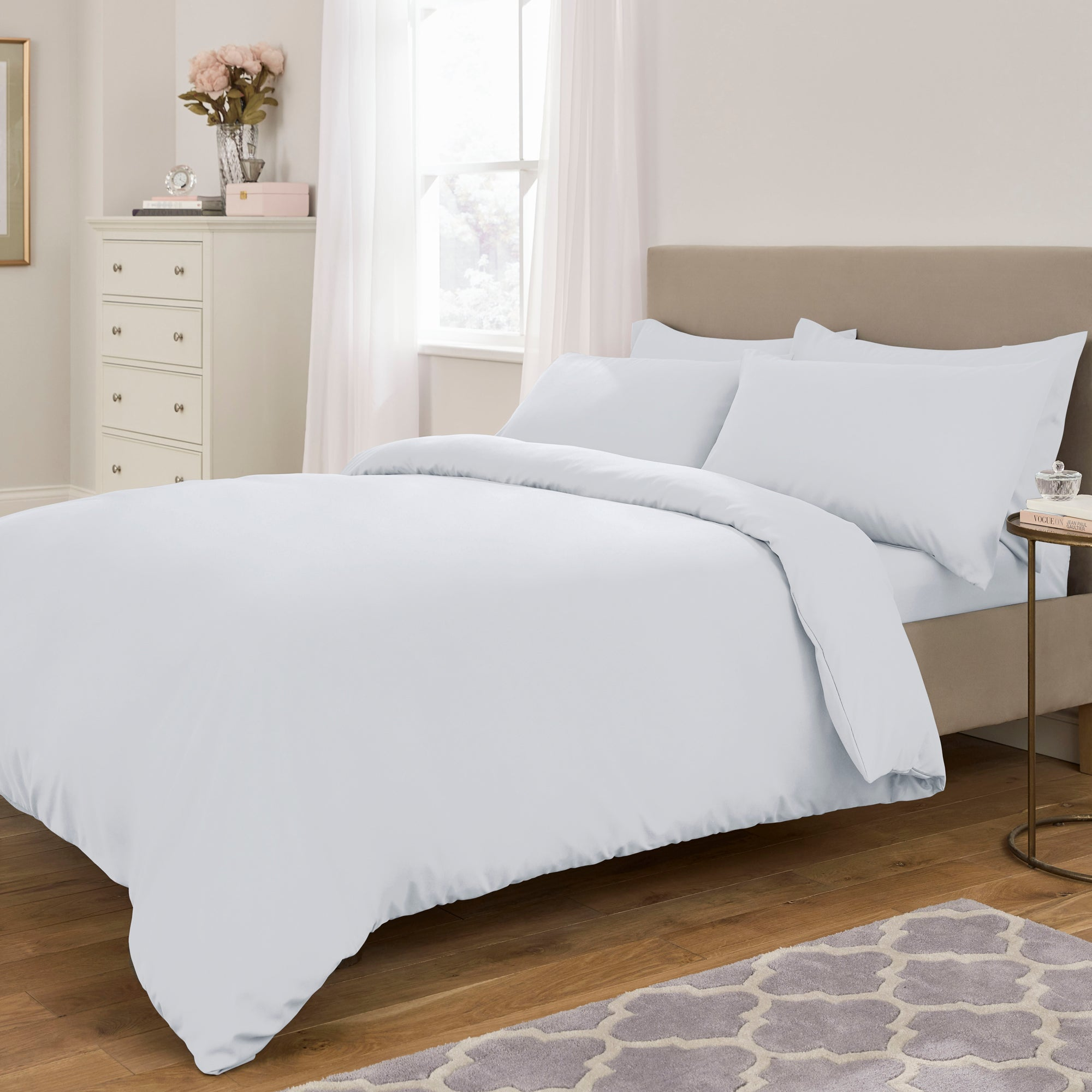 Fogarty Soft Touch White Plain Dye Bed Linen Collection