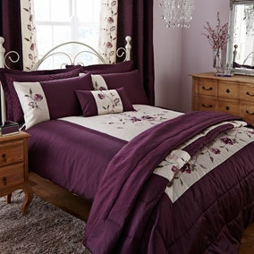 Verity Plum Bed Linen Collection