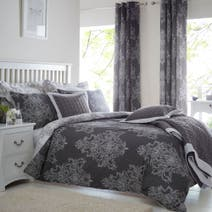 Versailles Charcoal Bed Linen Collection