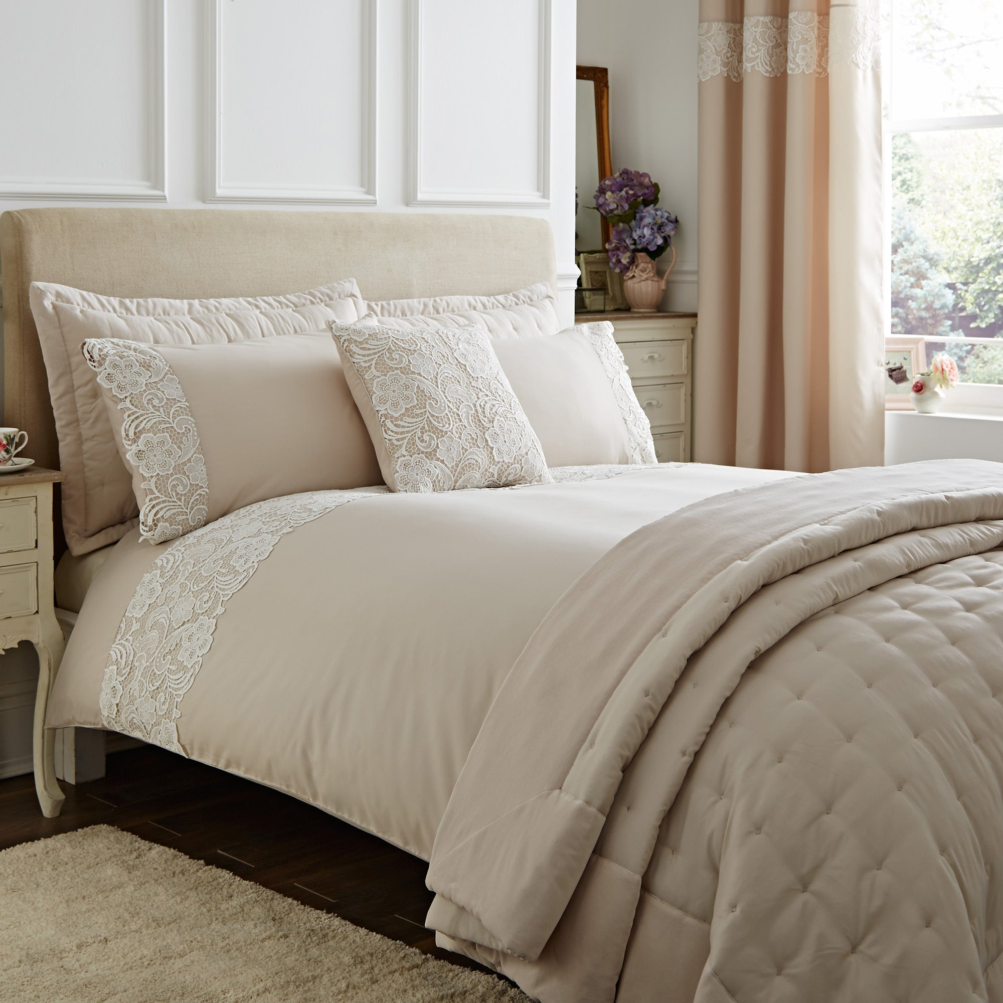 Florence Natural Bed Linen Collection