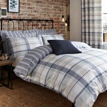 Harrison Blue Bed Linen Collection