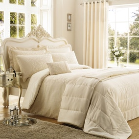 Crochet Jacquard Cream Bed Linen Collection