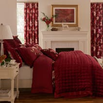 Dorma Charlotte Red Bed Linen Collection