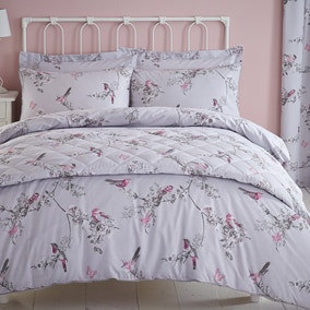 Beautiful Birds Grey Bed Linen Collection