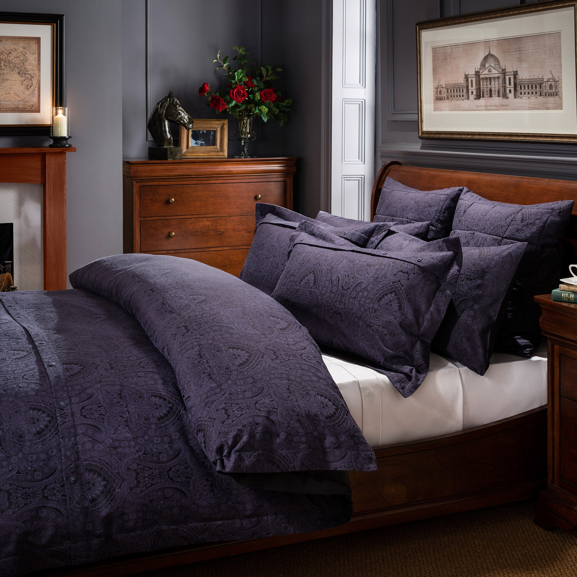 Dorma Paisley Navy Bed Linen Collection