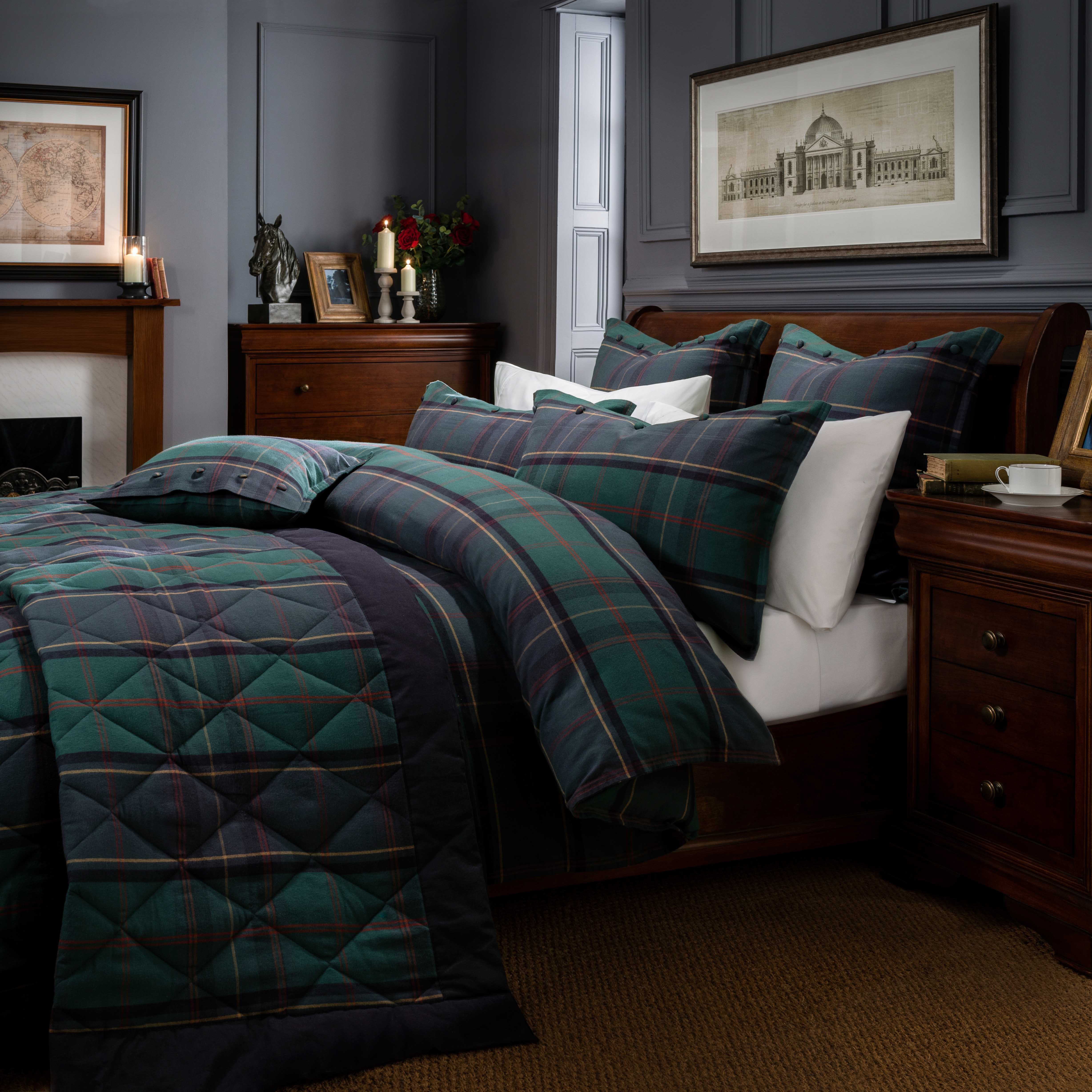 Dorma Lomond Blue Bed Linen Collection