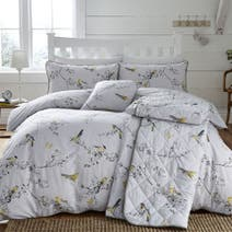 Beautiful Birds Ochre Bed Linen Collection