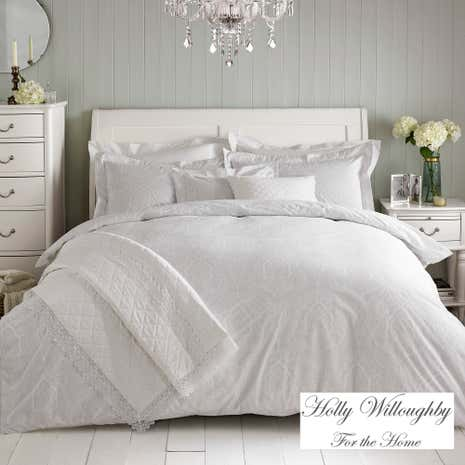 Holly Willoughby Paisley White Bed Linen Collection Dunelm