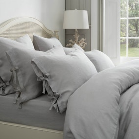 Dorma 100% Linen Grey Bed Linen Collection