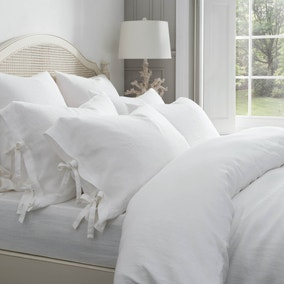 Dorma 100% Linen White Bed Linen Collection