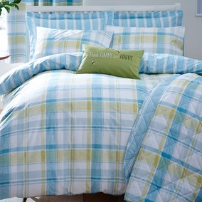 Harrison Check Teal Bed Linen Collection