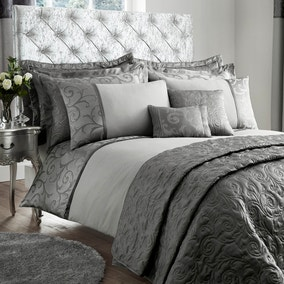 Lucia Silver Bed Linen Collection