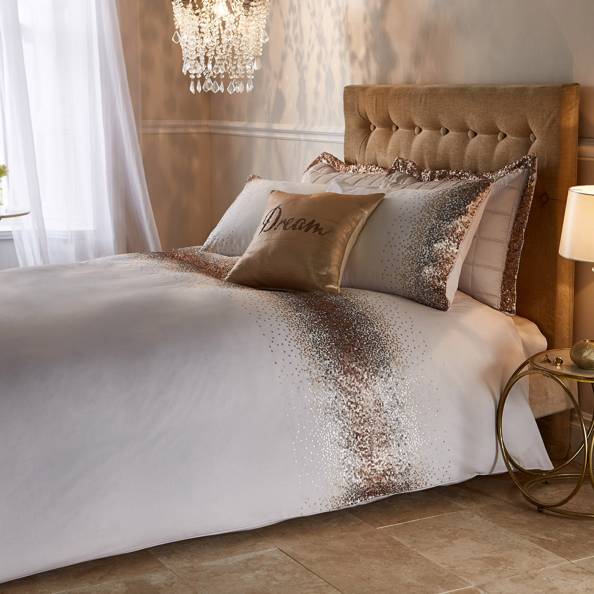 Luna Ombre Sequin Bed Linen Collection