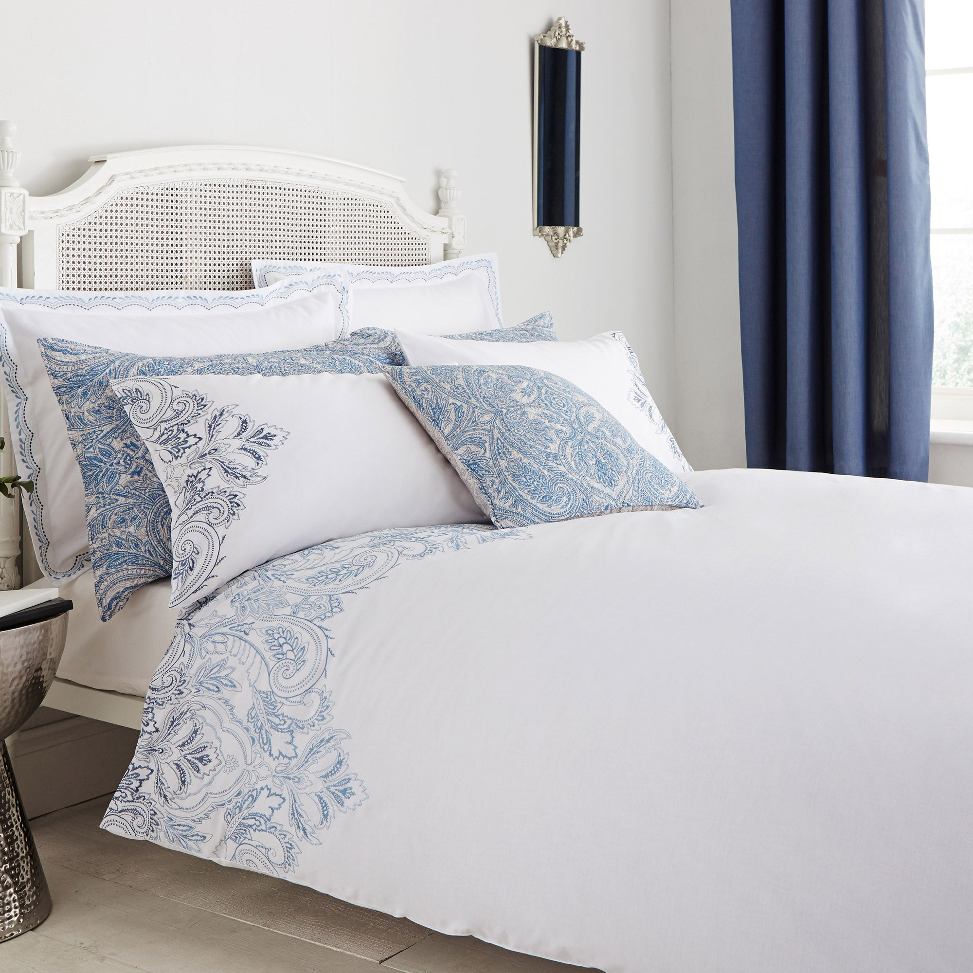 Taji Blue Bed Linen Collection