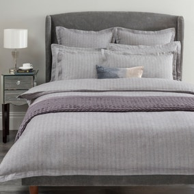 Hotel Herringbone Grey Bed Linen Collection