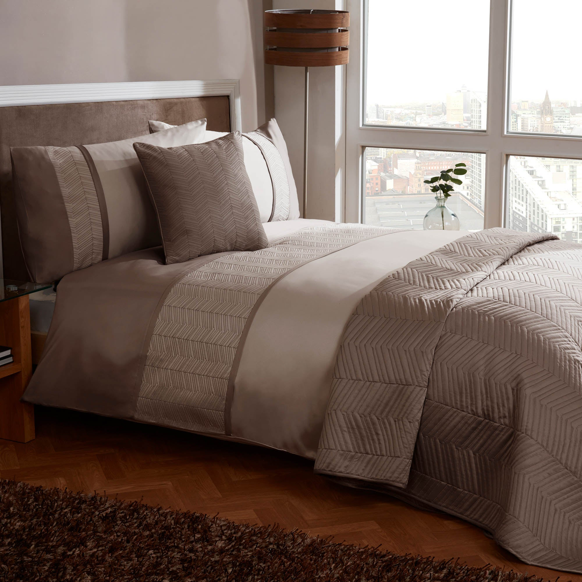 Owen Mocha Bed Linen Collection