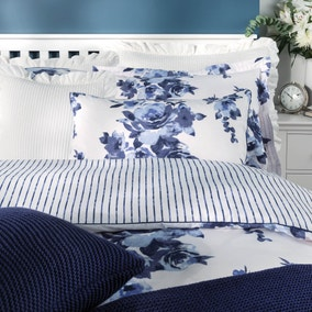 Saria Floral Blue Bed Linen Collection