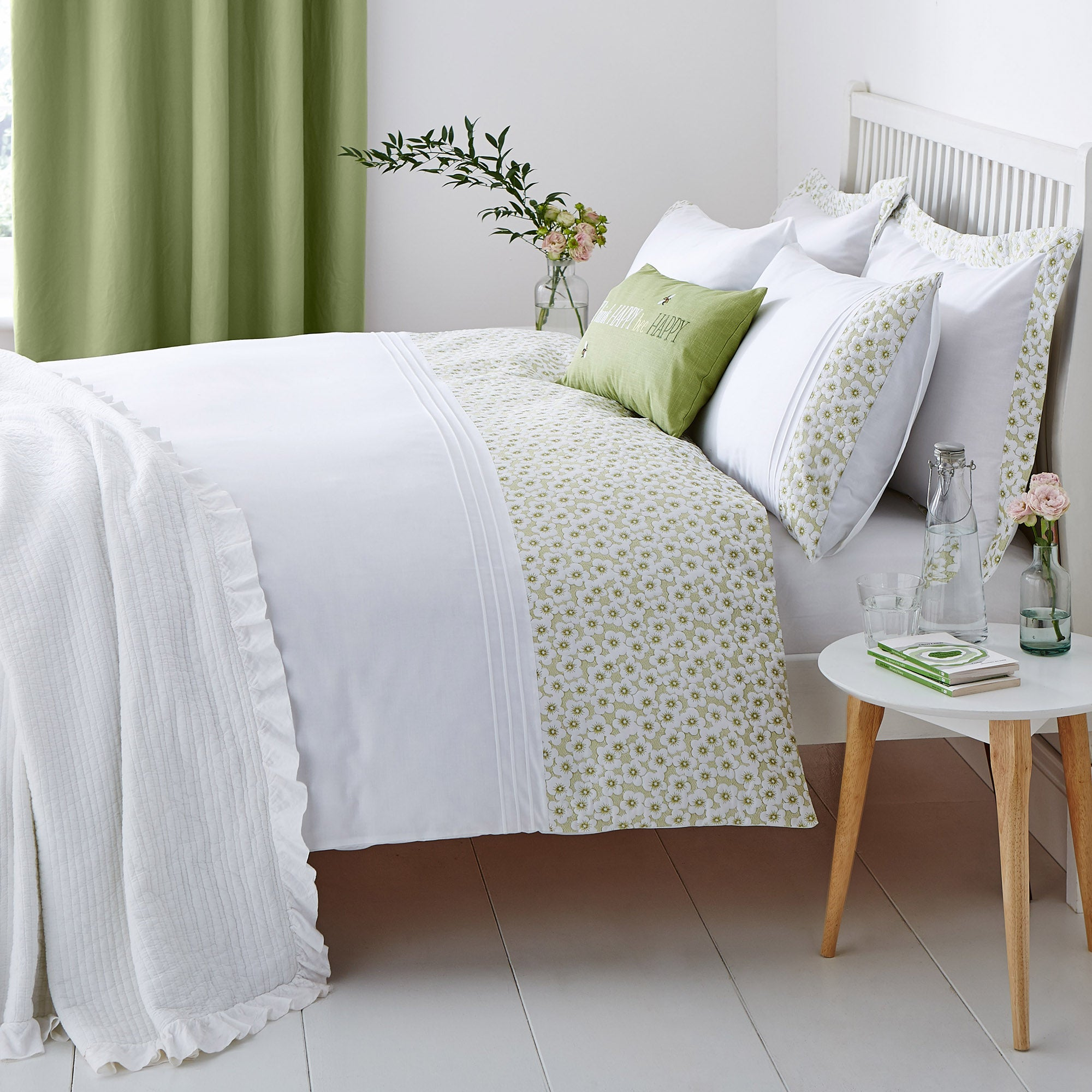 Calla Green Bed Linen Collection