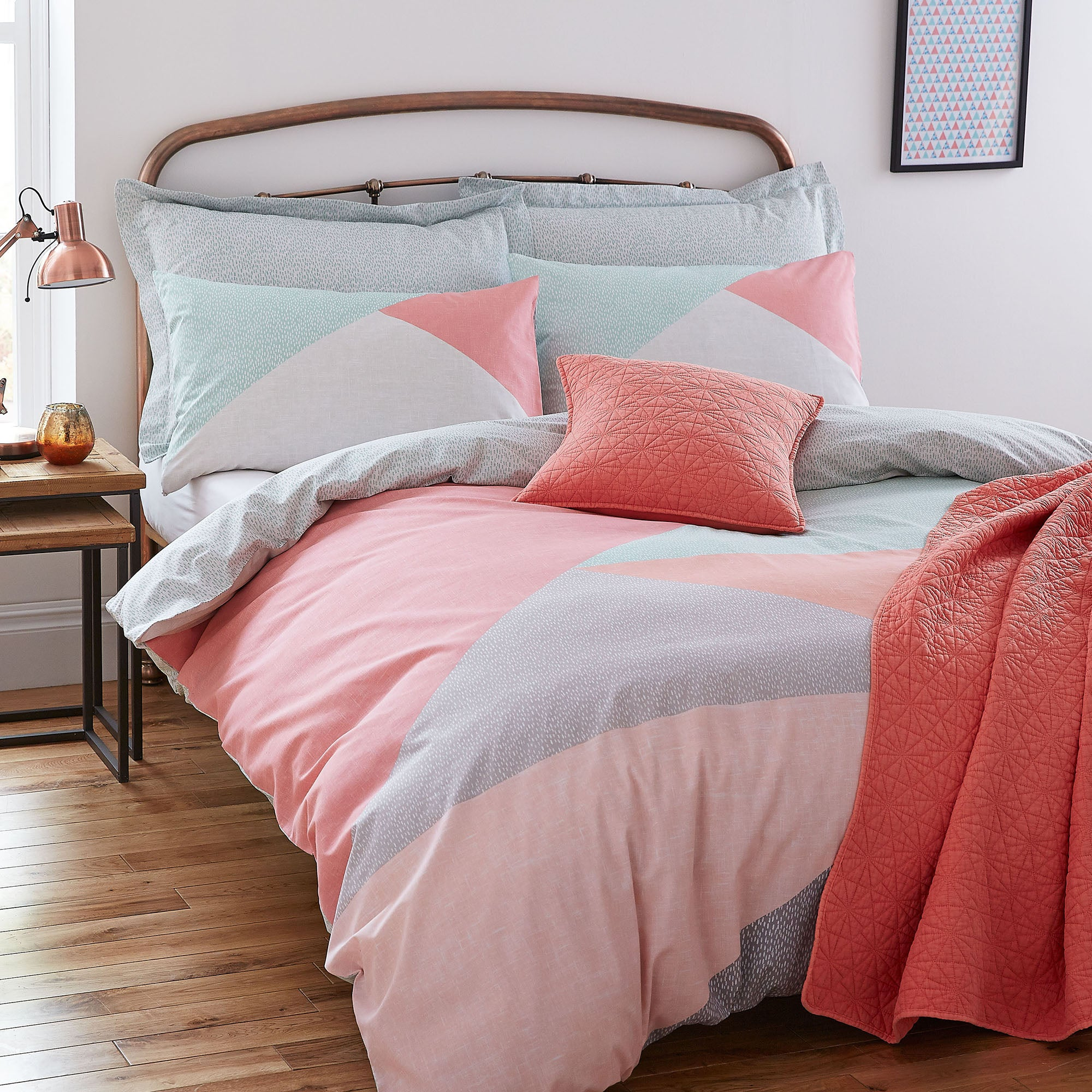 Elements Colour Block Bed Linen Collection