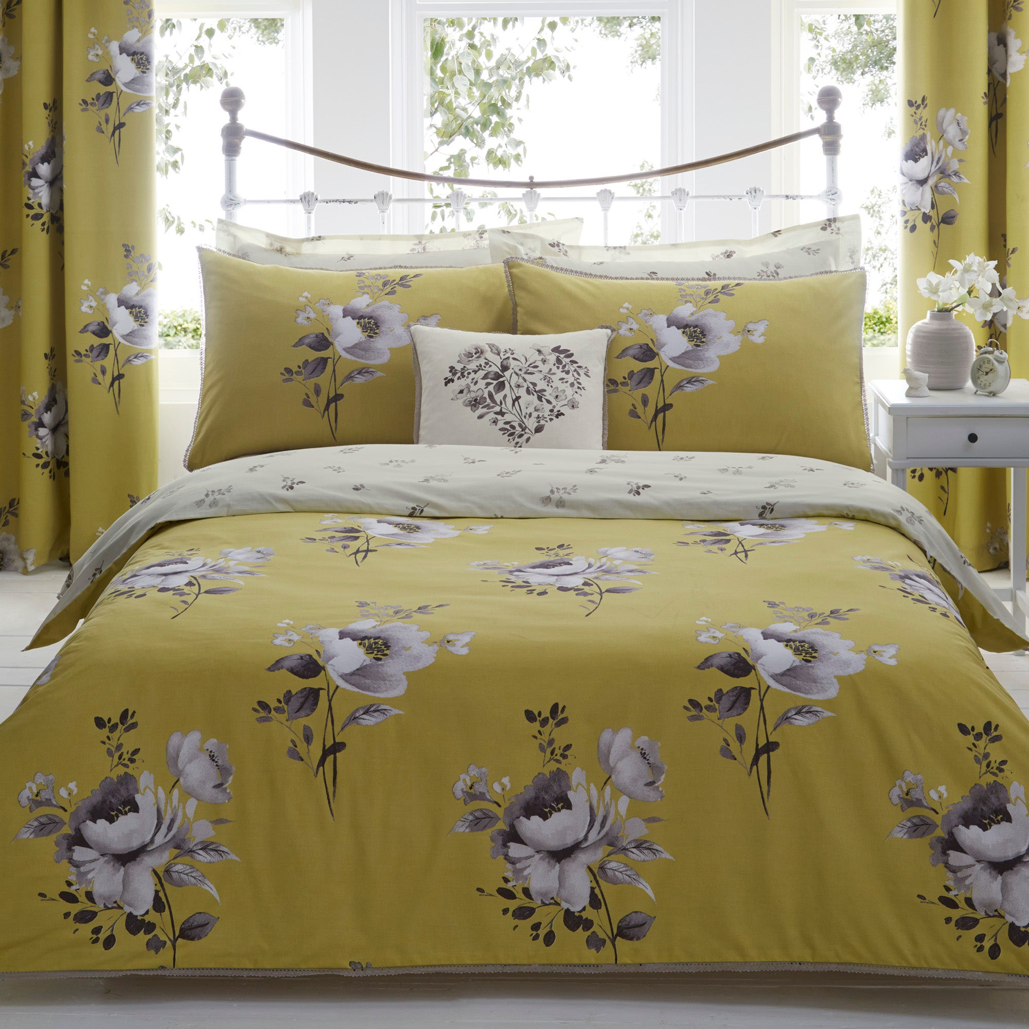 Liana Ochre Bed Linen Collection
